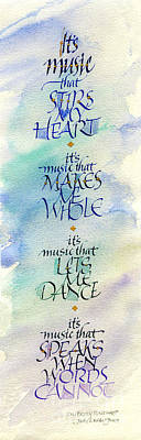 It's Music Poster by Judy Dodds