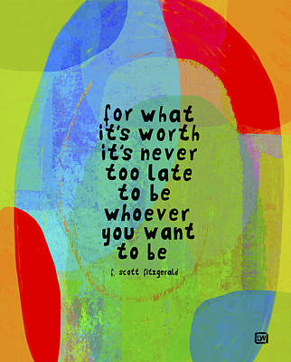 Poster featuring the mixed media It's Never Too Late by Lisa Weedn