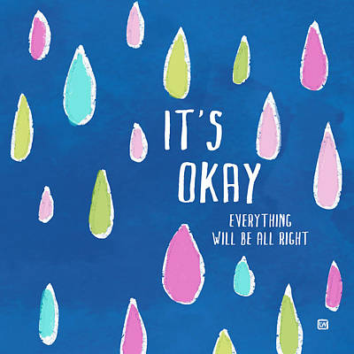 Poster featuring the painting It's Okay by Lisa Weedn