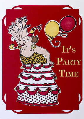 It's Party Time Poster by Jon Berghoff