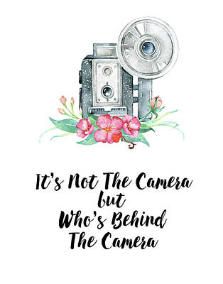 Poster featuring the digital art It's Who Is Behind The Camera by Colleen Taylor