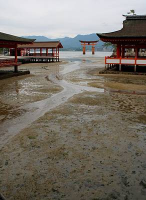 Itsukushima Shrine And Torii Gate Poster