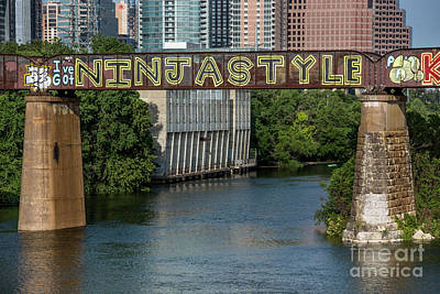 I've Got Ninja Style Is A Mural Painting On The Austin Railroad  Poster