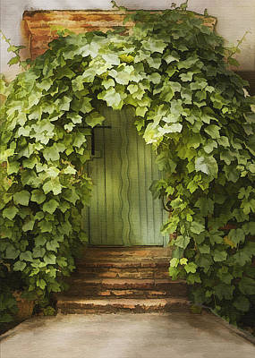 Ivy Door Poster by Sharon Foster