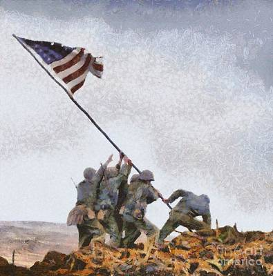 Iwo Jima, Wwii Poster