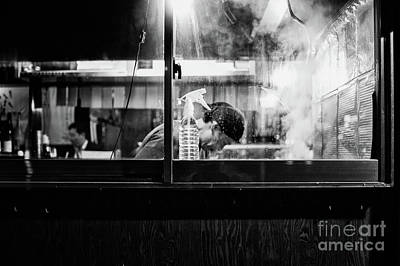 Poster featuring the photograph Izakaya Steam by Dean Harte