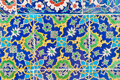 Iznik Ceramic Tile From The Topkapi Palace Poster by Salvator Barki