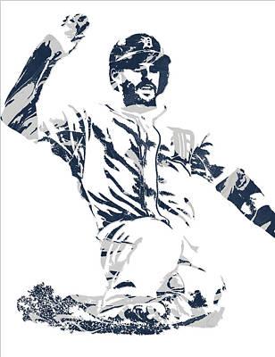 J D Martinez Detroit Tigers Pixel Art 1 Poster