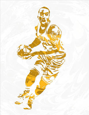 J R Smith Cleveland Cavaliers Pixel Art Poster