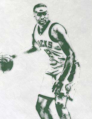 Jabari Parker Milwaukee Bucks Pixel Art Poster
