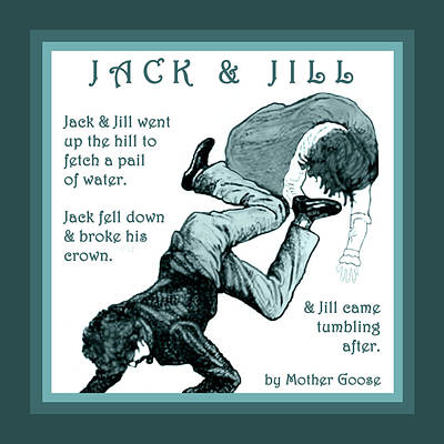 Jack And Jill Vintage Mother Goose Nursery Rhyme Poster