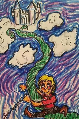 Jack And The Beanstalk Poster by Geraldine Myszenski