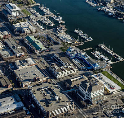 Jack London Square Aerial Photo Poster by David Oppenheimer