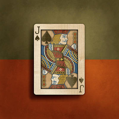 Jack Of Spades In Wood Poster