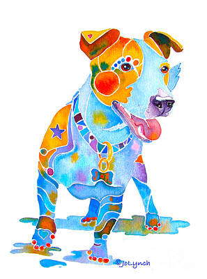 Jack Russell Terrier Colorful Painting Poster by Jo Lynch