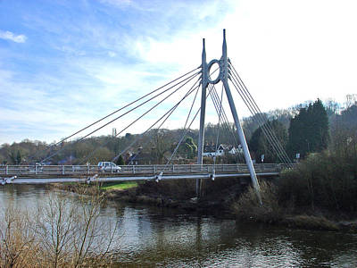 Jackfield Bridge - Ironbridge Gorge Poster by Rod Johnson