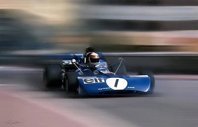 Jackie Stewart The Flying Scot Poster
