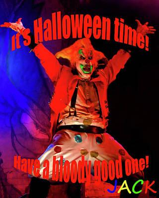 Jacks Halloween Card Poster