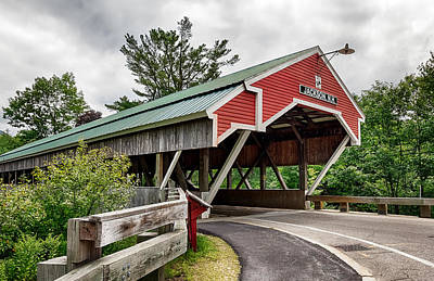 Jackson Covered Bridge Poster by Betty Denise