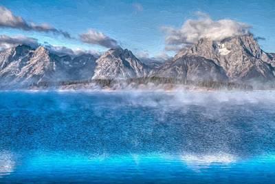 Jackson Lake - Teton National Park Poster by Donna Kennedy