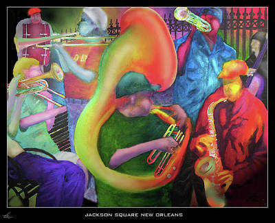 Jackson Square New Orleans Poster by Larry Rice