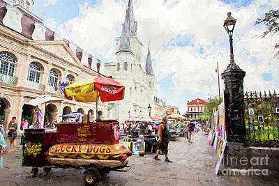 Jackson Square - New Orleans Poster by Scott Pellegrin