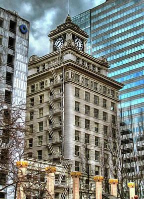 Jackson Tower Portland Oregon Poster