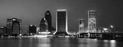 Jacksonville At Night Poster by Lori Deiter