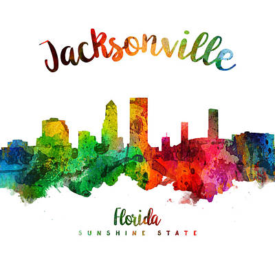 Jacksonville Florida 24 Poster by Aged Pixel