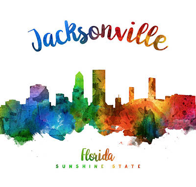 Jacksonville Florida 25 Poster by Aged Pixel