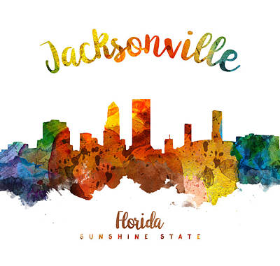 Jacksonville Florida 26 Poster by Aged Pixel