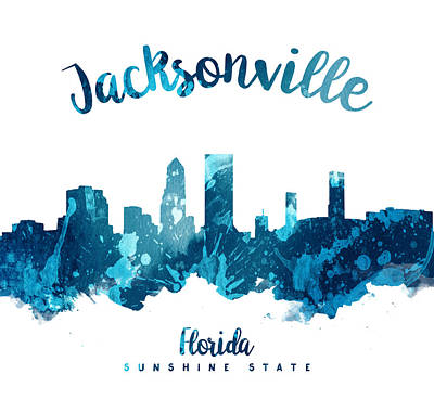 Jacksonville Florida 27 Poster by Aged Pixel