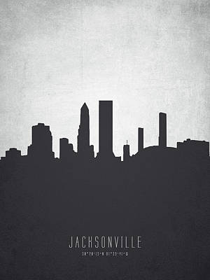 Jacksonville Florida Cityscape 19 Poster by Aged Pixel