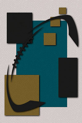 Jacksonville Jaguars Football Art Poster by Joe Hamilton