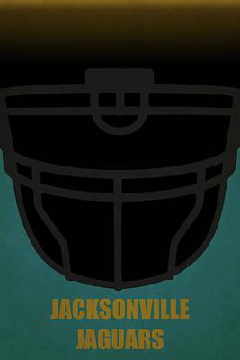 Jacksonville Jaguars Helmet Art Poster by Joe Hamilton