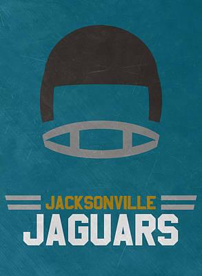 Jacksonville Jaguars Vintage Art Poster by Joe Hamilton