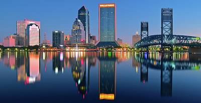 Jacksonville Two Times Poster by Frozen in Time Fine Art Photography