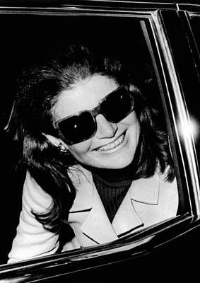 Jacqueline Kennedy Onassis Smiles Poster by Everett