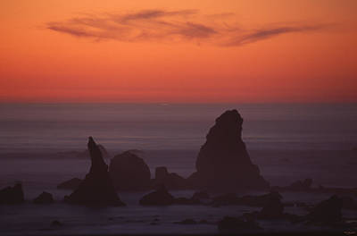 Jagged Offshore Rocks  Poster by Soli Deo Gloria Wilderness And Wildlife Photography