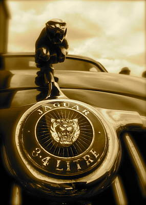 Jaguar Car Mascot Poster by John Colley