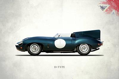 Jaguar D-type Poster by Mark Rogan