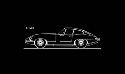 Jaguar E Type Phone Case Poster