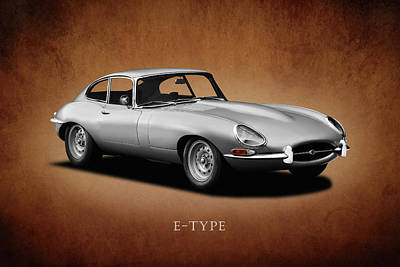Jaguar E-type Series 1 Poster by Mark Rogan