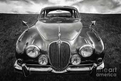 Jaguar Mk II 3.8 Litre Poster by Adrian Evans