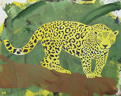Poster featuring the painting Jaguar by Candace Shrope