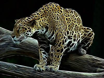 Jaguar Watching Poster by Sandy Keeton