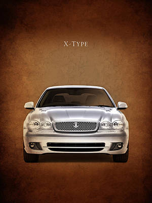 Jaguar X Type Poster by Mark Rogan