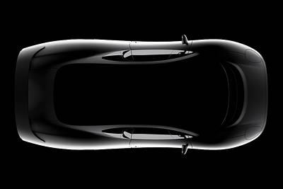 Jaguar Xj220 - Top View Poster