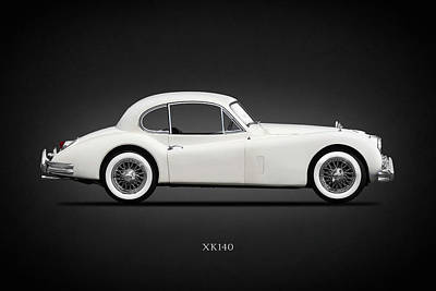 Jaguar Xk140 1957 Poster by Mark Rogan