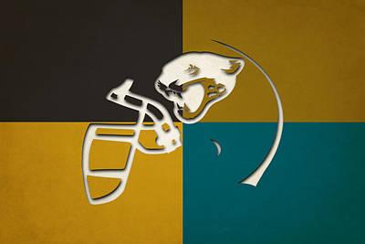 Jaguars Helmet Art Poster